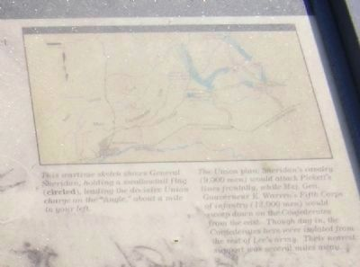 The Battle of Five Forks-map in the upper right image. Click for full size.