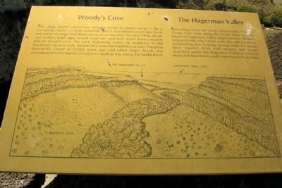 Woody's Cove / The Hagerman Valley Marker image. Click for full size.