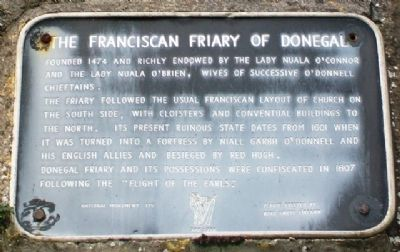 The Franciscan Friary of Donegal Marker image. Click for full size.
