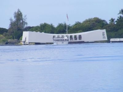 USS Arizona Memorial at a distance image. Click for full size.