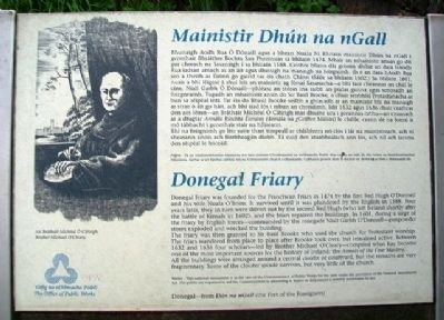 Donegal Friary / Mainistir Dhún na nGall Marker image. Click for full size.