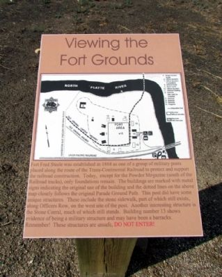 Viewing the Fort Grounds Marker image. Click for full size.