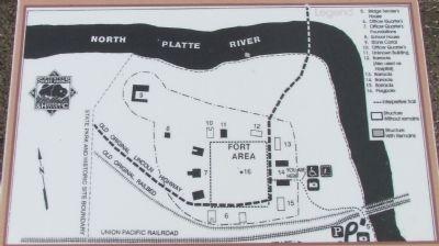 Map of Fort Fred Steele Today image. Click for full size.
