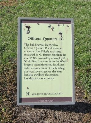 Officers' Quarters—C Marker image. Click for full size.