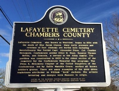 LaFayette Cemetery Marker image. Click for full size.