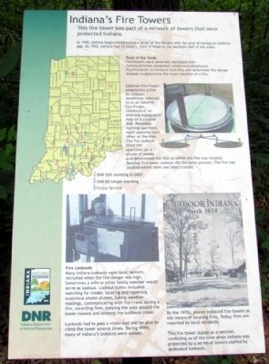Indiana's Fire Towers Marker image. Click for full size.