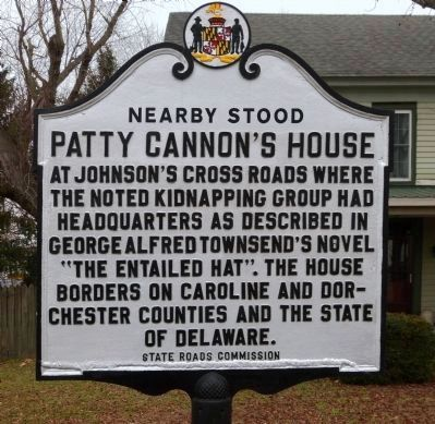 Neaby Stood<br>Patty Cannon&#39;s House Marker image. Click for full size.