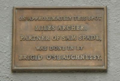 Miles Archer Marker image. Click for full size.