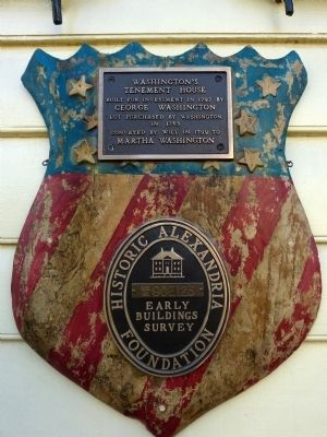 Washington's Tenement House Marker image. Click for full size.