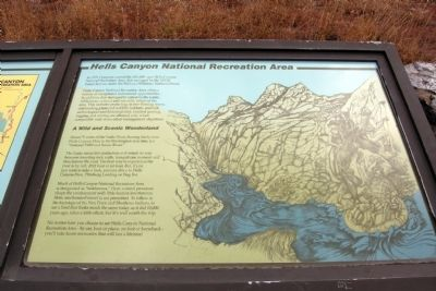 Hells Canyon National Recreation Area Marker image. Click for full size.