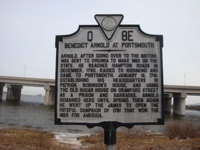 Benedict Arnold at Portsmouth Marker image. Click for full size.