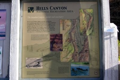 The Imnaha Canyon ... shelter and sanctuary Marker image. Click for full size.