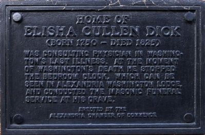 Home of Elisha Cullen Dick Marker image. Click for full size.