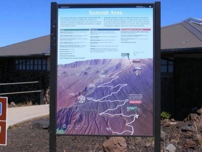 Haleakala National Park Marker-Summit Area image. Click for full size.