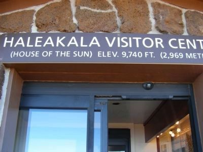 Haleakala National Park-Sign over the Summit Visitor Center entrance image. Click for full size.