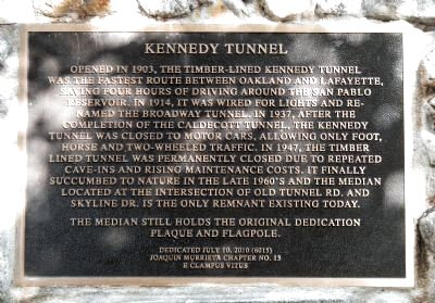 Kennedy Tunnel Marker image. Click for full size.