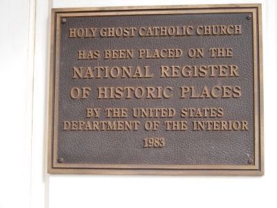 Holy Ghost Catholic Church Marker image. Click for full size.
