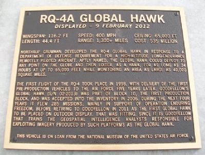 RQ-4A Global Hawk Marker image. Click for full size.