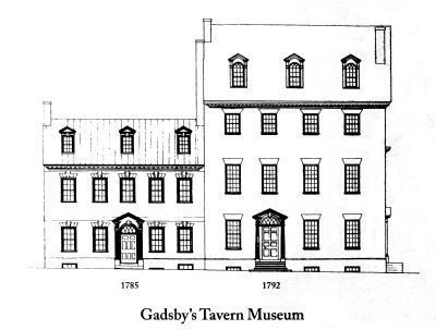 Gadsby�s Tavern image. Click for full size.