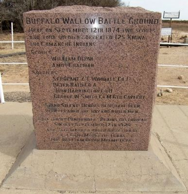 Buffalo Wallow Battle Ground Marker image. Click for full size.