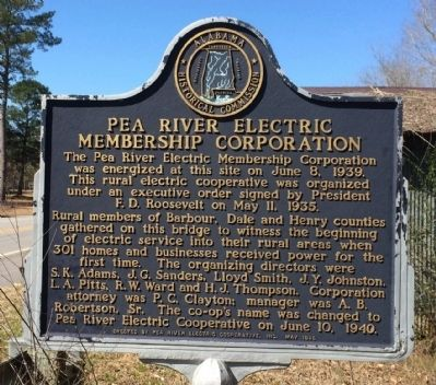 Pea River Electric Membership Corporation Marker image. Click for full size.