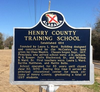 Henry County Training School Marker image. Click for full size.