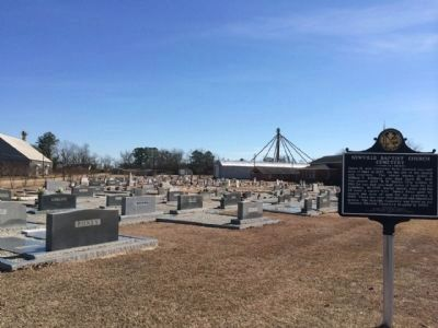 Newville Baptist Church Cemetery image. Click for full size.