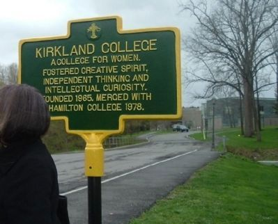 Kirkland College Marker image. Click for full size.