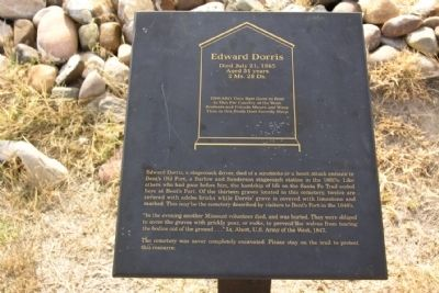 Edward Dorris Marker image. Click for full size.