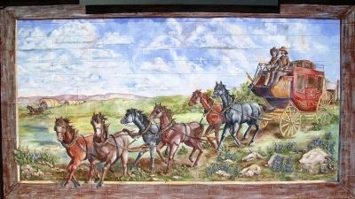 Early Public Transportation in San Angelo Mural 3 image. Click for full size.
