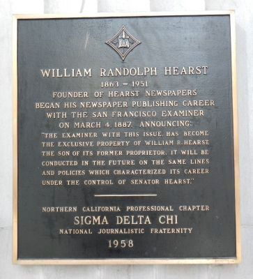 William Randolph Hearst Marker image. Click for full size.