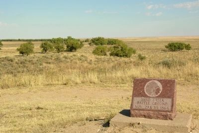 Site of Sand Creek Massacre image. Click for full size.