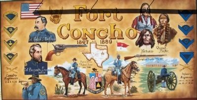 Fort Concho Mural image. Click for full size.