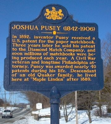 Joshua Pusey Marker image. Click for full size.