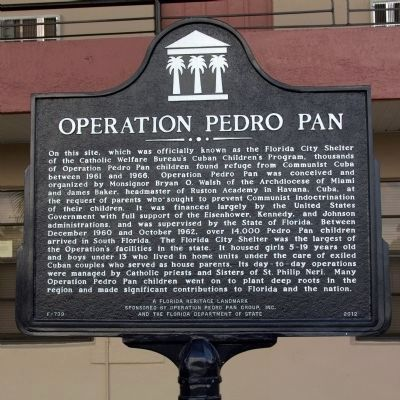 Operation Pedro Pan Marker image. Click for full size.