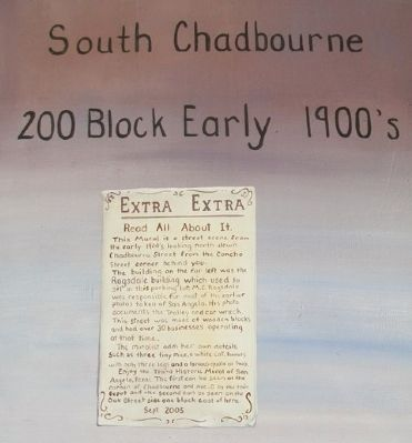 South Chadbourne 200 Block Early 1900's Marker image. Click for full size.