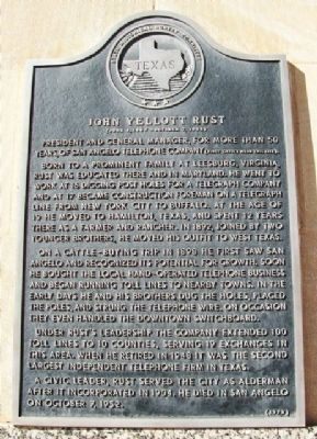 John Yellott Rust Marker image. Click for full size.
