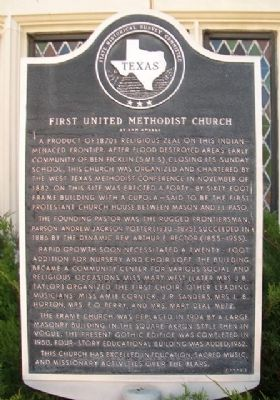 First United Methodist Church of San Angelo Marker image. Click for full size.