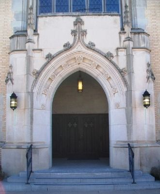 First United Methodist Church Entrance image. Click for full size.