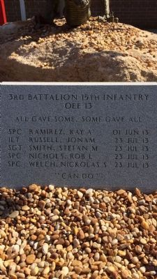 3rd Battalion 15th Infantry OEF13 Monument image. Click for full size.