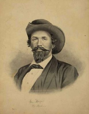 Confederate General John Hunt Morgan image. Click for full size.