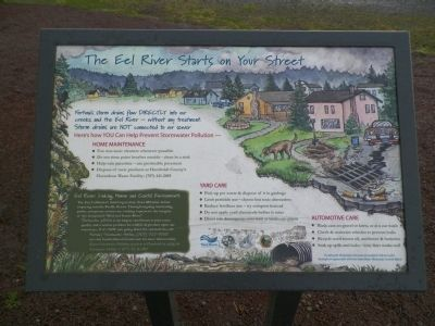 The Eel River Starts on Your Street Marker image. Click for full size.