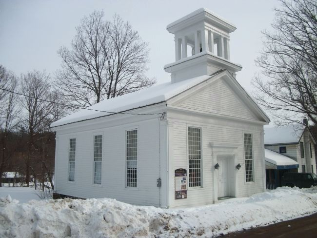 The Burtonville Marker is on the Front of the Church Building image. Click for full size.