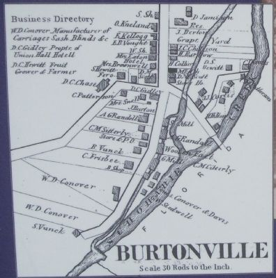 Burtonville Marker Detail image. Click for full size.
