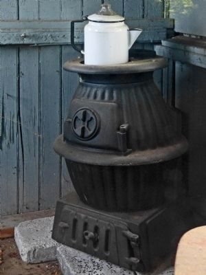Pot-Bellied Stove <br>in the Watchman&#39;s Shed image. Click for full size.