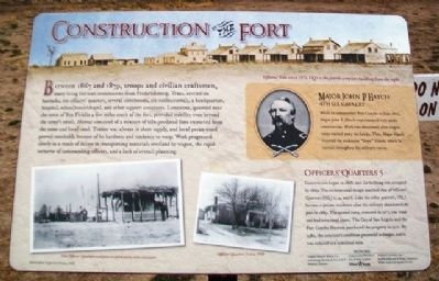 Construction of the Fort Marker image. Click for full size.