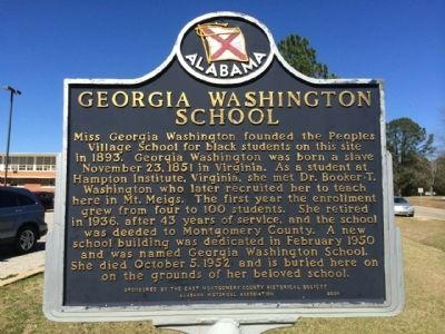 Georgia Washington School Marker image. Click for full size.
