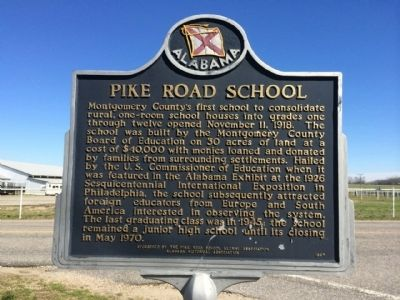 Pike Road School Marker image. Click for full size.