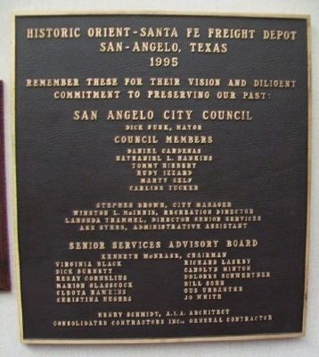 Orient-Santa Fe Freight Depot Redevelopment Marker image. Click for full size.
