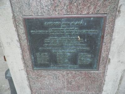 Pier Plaza Contributors Marker image. Click for full size.